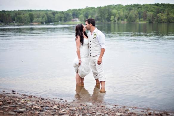 wedding in haliburton lake