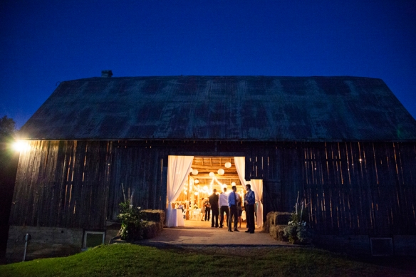 barn night wedding reception