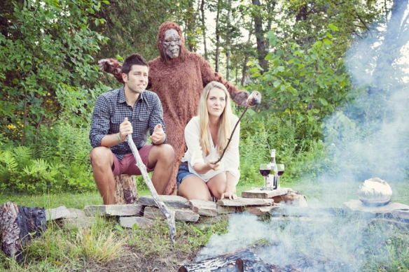 funny bigfoot campfire