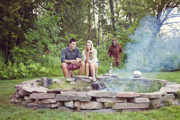 campfire bigfoot engagement haliburton