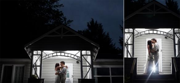bridal couple bonnie view inn at night