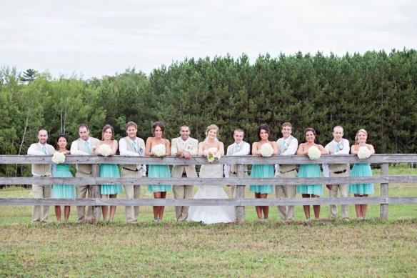 bridal party fence haliburton