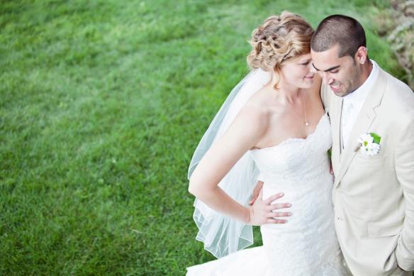 bride groom laughing wedding