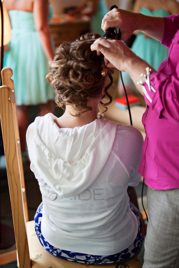 pinestone hair wedding