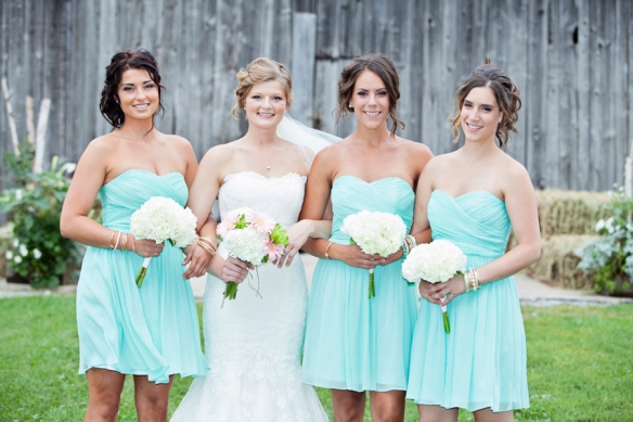 barn bridemaids wedding