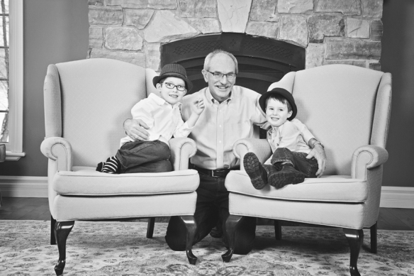 brothers with grandfather