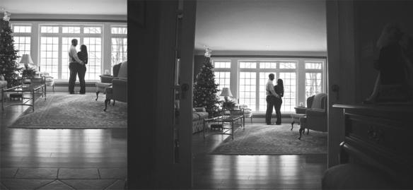 engagement couple christmas