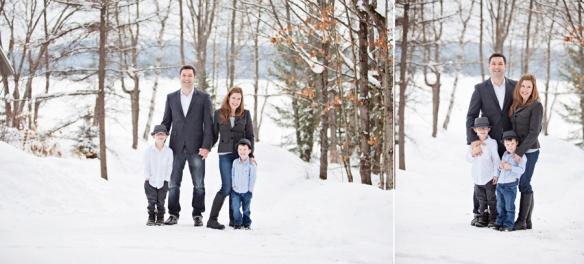 family portrait in winter Haliburton
