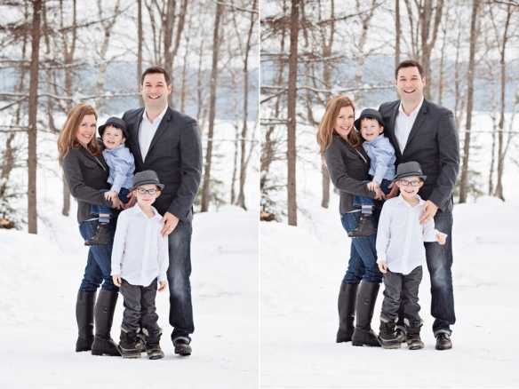Outdoor family portrait Haliburton
