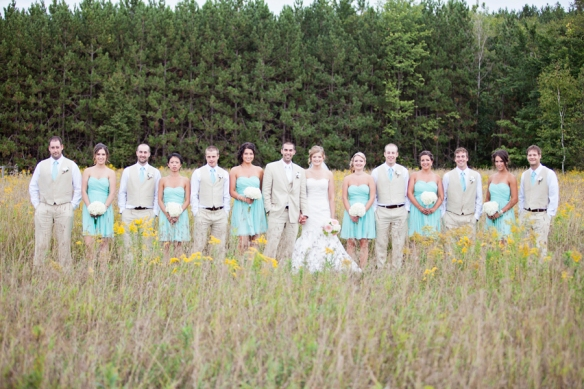 bridal party in field ontario