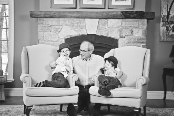 brother with grandfather Haliburton portrait
