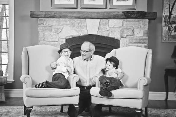 brother with grandfather Haliburton portrait