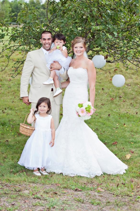 flower girls summer wedding haliburton