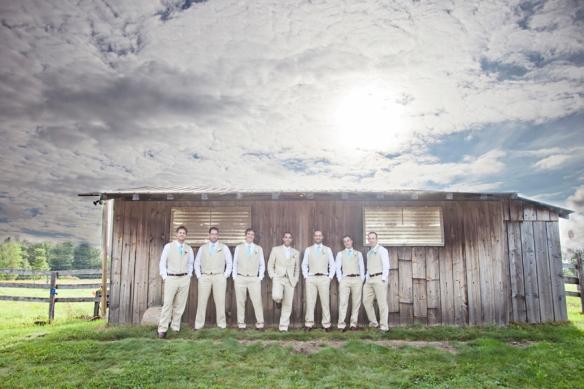 barn groomsmen haliburton wedding