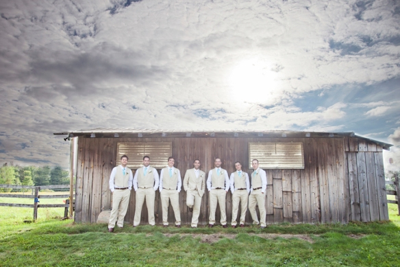 barn groomsmen haliburton wedding