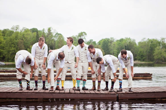 groomsmen-socks-lake-dock