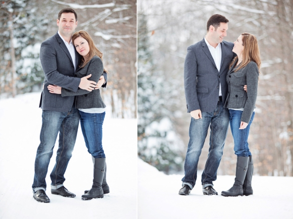 Haliburton engagement portrait
