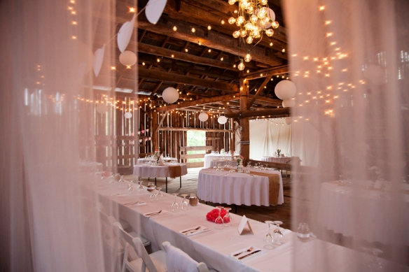 barn reception wedding haliburton